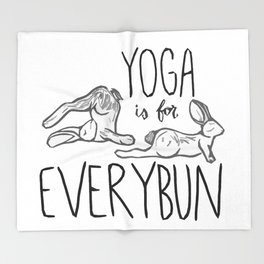 Yoga is for Everybun Throw Blanket