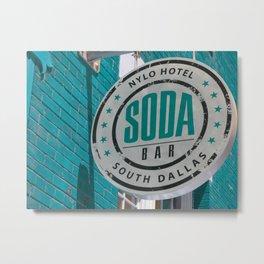 Soda Bar Blue Metal Print