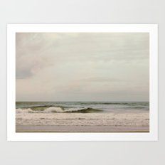 Cloudy Daydreaming by the Sea Art Print