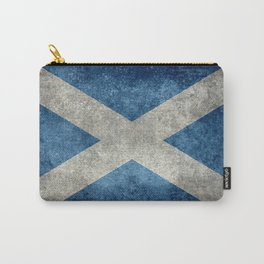 Flag of Scotland, Vintage retro style Carry-All Pouch