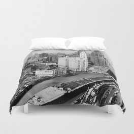 Largest travel Chicago River Chicago Illinois Duvet Cover