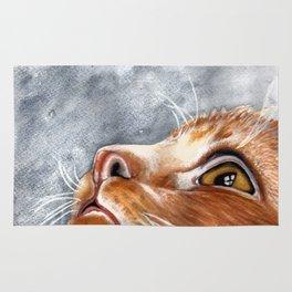 Ginger Watercolour Cat Rug