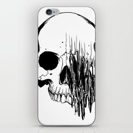 Skull #5 (Distortion) iPhone Skin