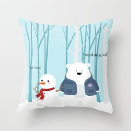 Mr Polar Bear Throw Pillow