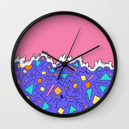 The wave of shapes Wall Clock