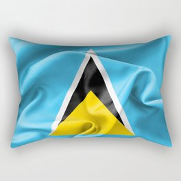 Saint Lucia Flag Rectangular Pillow