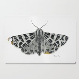 Kintsugi - A Graphite Drawing of a Moth by Brooke Figer Cutting Board