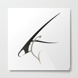 Oryx gazella Metal Print