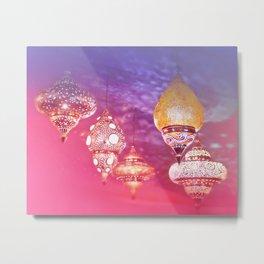 Oriental Magical Lights and Love Metal Print
