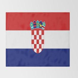 Flag of croatia -croatian, Hrvatska,croat,croacia,Zagreb,split,rijeka,osijek. Throw Blanket