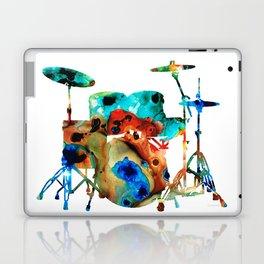 The Drums - Music Art By Sharon Cummings Laptop & iPad Skin