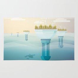 Underwater city Rug