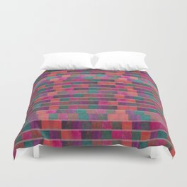 """Full Color Squares Pattern"" Duvet Cover"