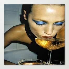 Champagne Slurp Canvas Print