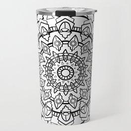 Snow Mandala Travel Mug