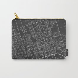 Oshawa Map, Canada - Gray Carry-All Pouch
