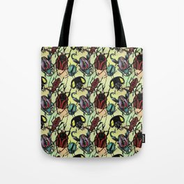 Tossed Beetles Tote Bag