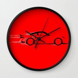 Fast Red Car Wall Clock
