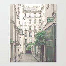 Paris - Montmartre - white, cream, beige - Architecture - Parisian street Canvas Print