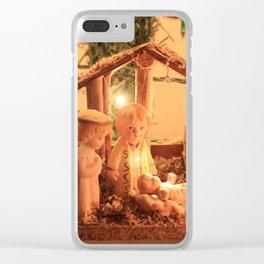 Nativity Scene Clear iPhone Case