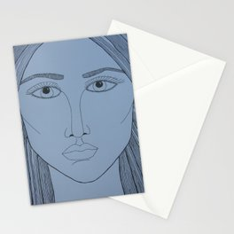 Woman face, ES Stationery Cards