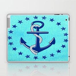 Nautical Anchor with Stars Laptop & iPad Skin