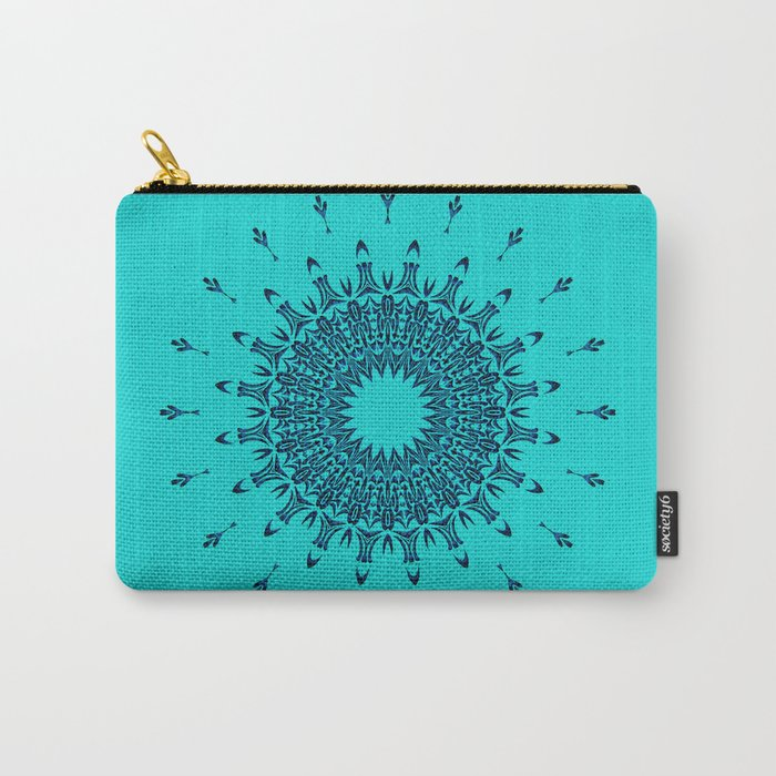 Blue Symmetry  Carry-All Pouch