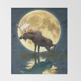 Moose & Moon Throw Blanket