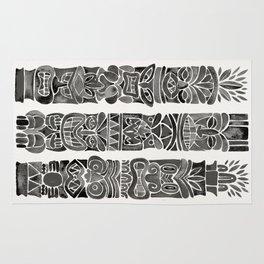Tiki Totems – Black Rug