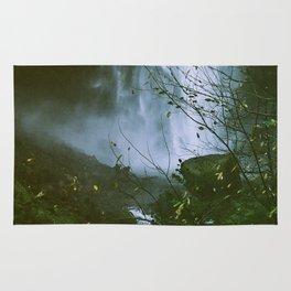 Waterfalls. Flowers. Nature. Rug