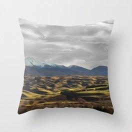 Central Otago in Winter Throw Pillow