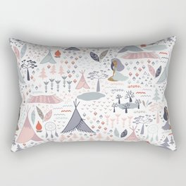 Native american inspired pattern pastel colors Rectangular Pillow