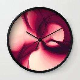Splash of Wine Fractal Wall Clock