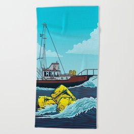 Jaws: Orca Illustration Beach Towel