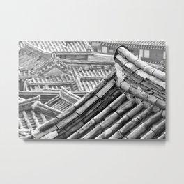Black & White Hanoks Metal Print
