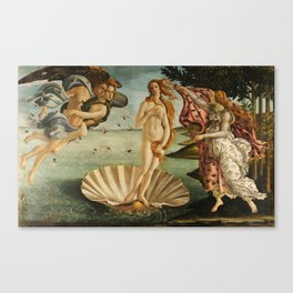 The Birth of Venus - Nascita di Venere by Sandro Botticelli Canvas Print