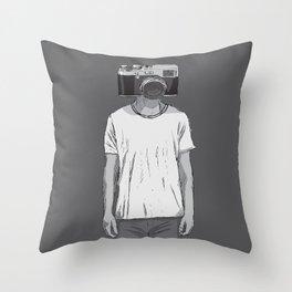 Camera dude Throw Pillow