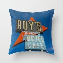 Roy's Motel & Cafe Throw Pillow