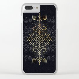 Golden Echo Clear iPhone Case