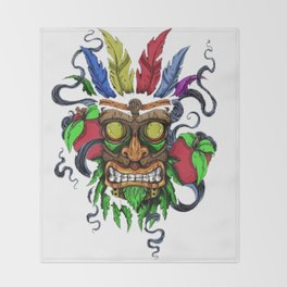 Face in Colors Throw Blanket
