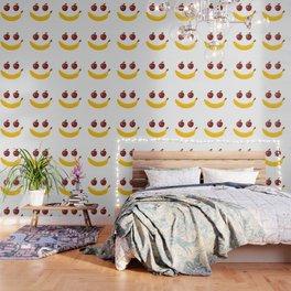 Smile Vegetable Design Wallpaper