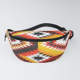 Colorful patchwork mosaic, oriental kilim rug Fanny Pack