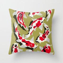 Koi Carp Zen Throw Pillow