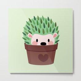 Hedgehogs disguised as cactuses Metal Print