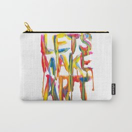 LET'S MAKE ART Carry-All Pouch