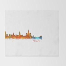 Moscow City Skyline art HQ v2 Throw Blanket