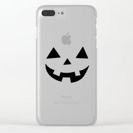 Happy Jack-O-Lantern Clear iPhone Case