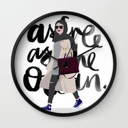 free as the ocean Wall Clock