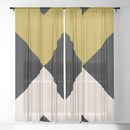 Minimal X Dark Olive Sheer Curtain