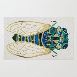 Green & Gold Cicada Rug